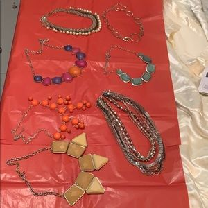 Lot of 7 STATEMENT NECKLACES